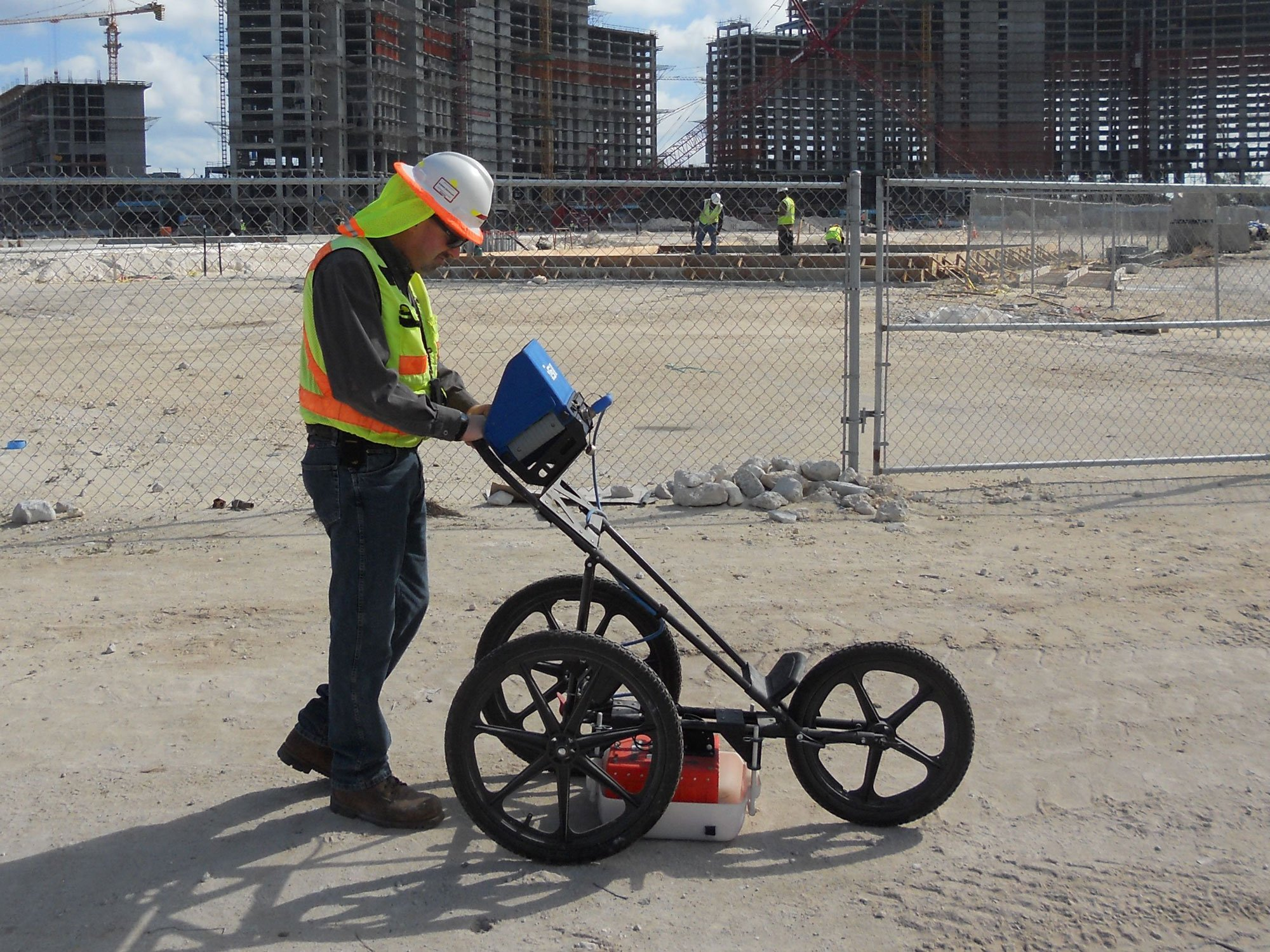 Ground Penetrating Radar at a Construction Site