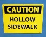Sidewalk Vault Sign