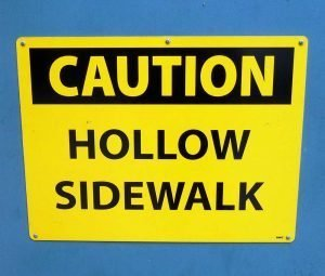 Sidewalk Vault Sign